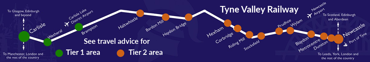Map showing stations in Tiers 1 and 2