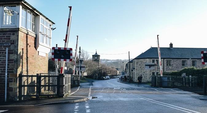 Level crossing at Haydon Bridge