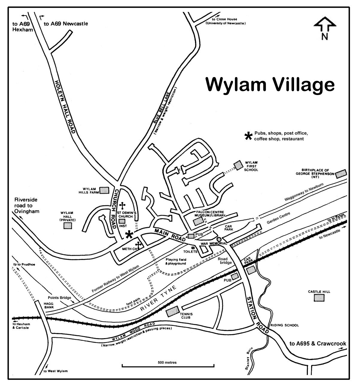 Wylam map