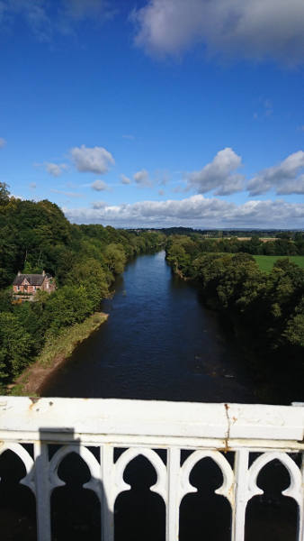 The view from Wetheral Bridge
