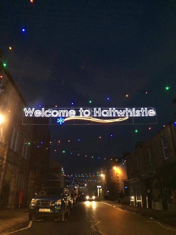 Haltwhistle Station Xmas Lights