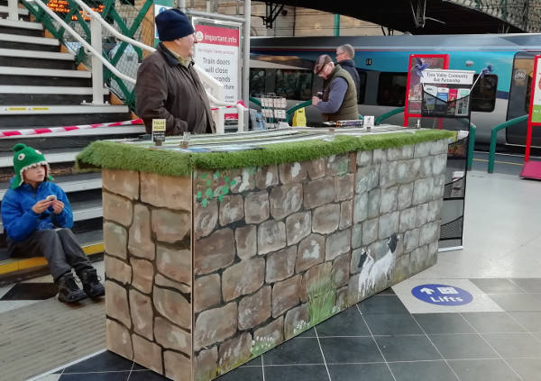 Community Rail in Carlisle November 2019 - image shows our Tourism version of Hadrian's Wall